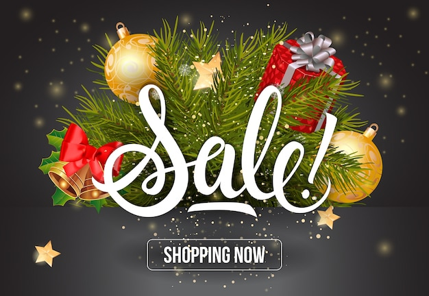 Sale shopping now lettering