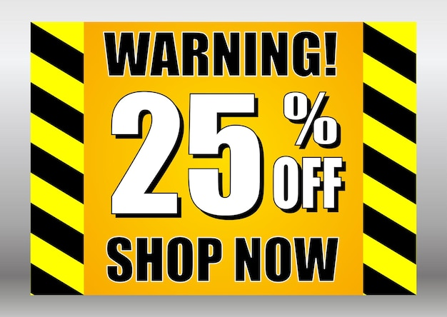 판매 표시 경고 25 할인 지금 쇼핑