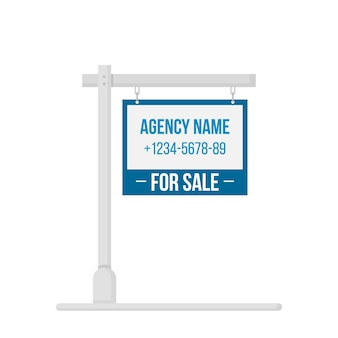 For sale signboard