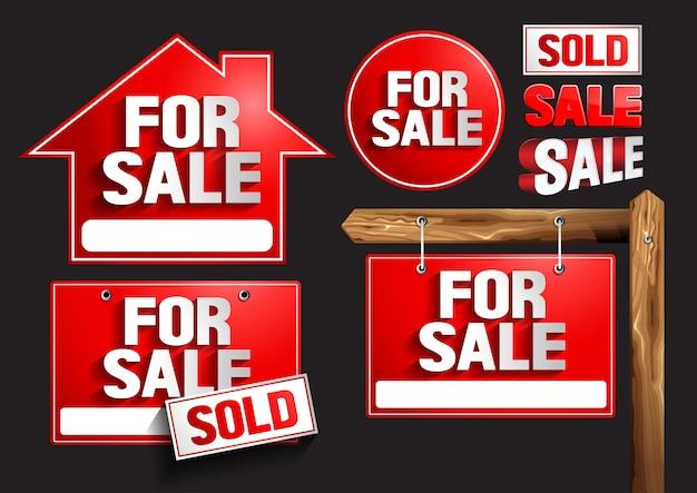 For sale signs symbols