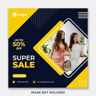 Sale social media post or banner template