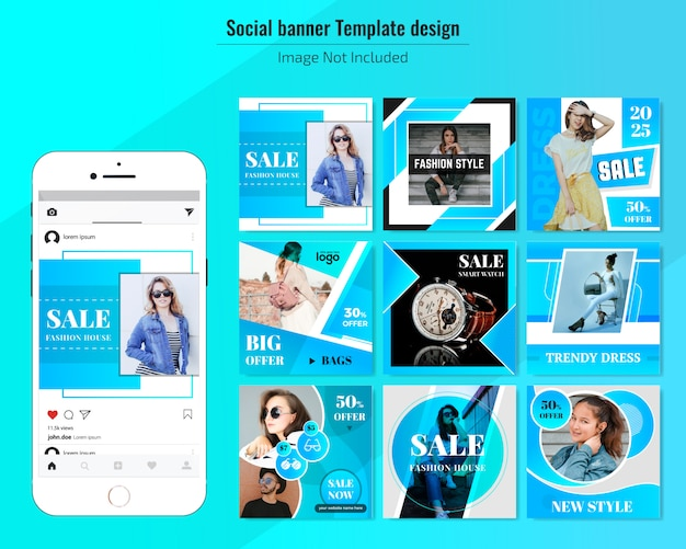 Sale social media web banner template