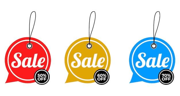 Распродажа спецпредложения и ценники дизайна premium vector