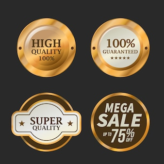 Sale and special offer badge set, vector illustration.