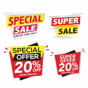 Sale and special offer banner set