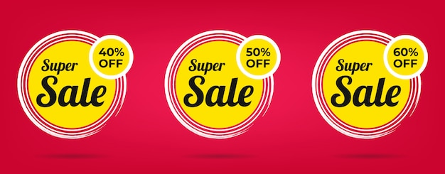 Sale special offer and price tags design banner