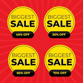 Sale special offer and price tags set