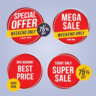 Sale and special offer tag, price tags, sales label, banner