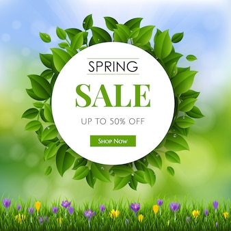 Sale spring flowers nature poster