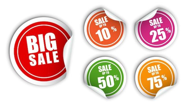 판매 스티커 위트 여러 색상