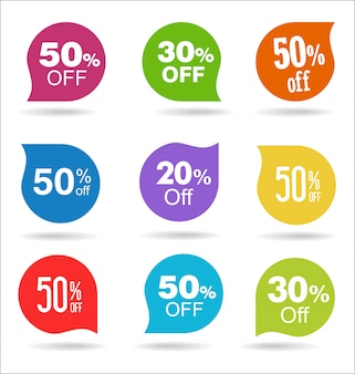 Sale stickers and tags