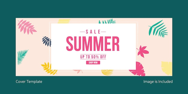 Sale summer cover page design