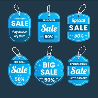 Sale tag selection