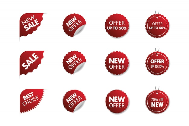 Sale tags collection. big sale special offer