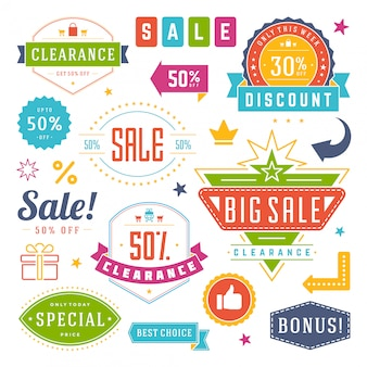 Sale tags and labels design