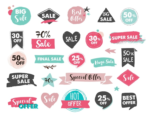 Sale tags, labels and mobile theme.