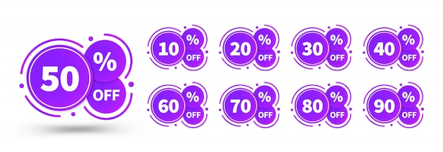 Sale tags set badges template
