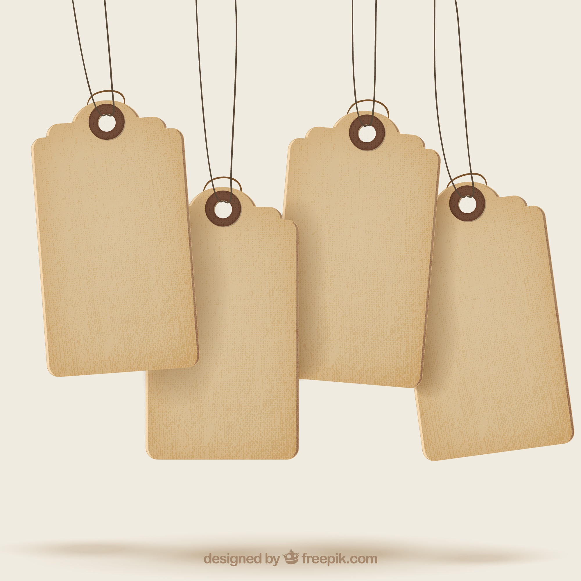 Sale tags with texture