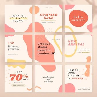 Sale template banner set