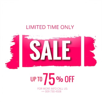 Sale template banner with stroke vector design