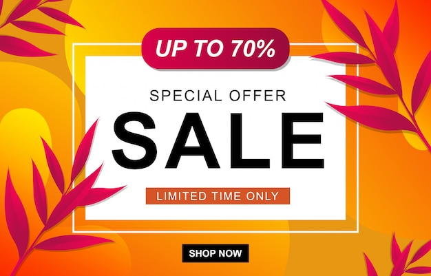 Sale template banner