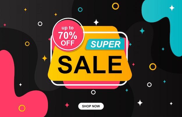 Sale template banner Premium Vector
