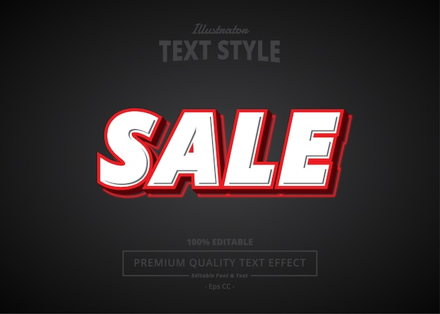 Sale  text effect