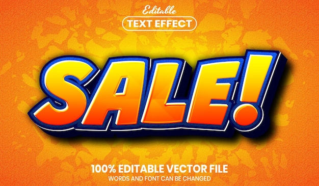 Sale text, font style editable text effect