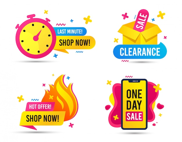 Sale timer badges