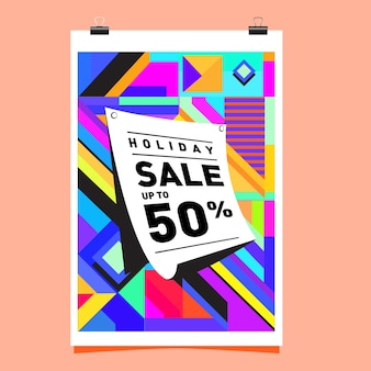 Sale up to 50% poster design template