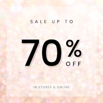 Sale up to 70 percentage off badge