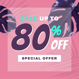 Sale up to 80% promotion