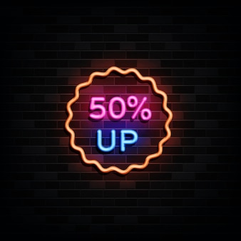 네온 사인 최대 50 % 판매