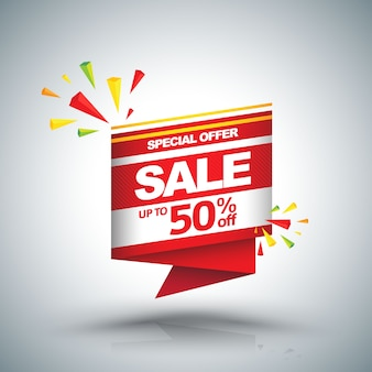 Sale vector banner - discount up to 50%