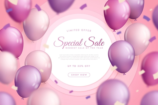 Продажа обоев с реалистичными воздушными шарами