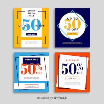 Sale web banner collectio