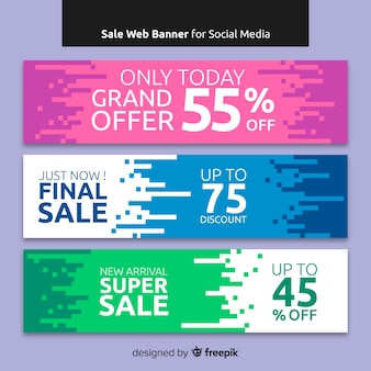 Sale web banner collection por social media