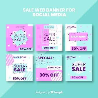 Продажа веб-баннера для коллекции социальных сетей