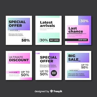 소셜 미디어 판매 웹 배너