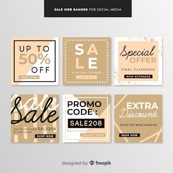 Sale web banner for social media