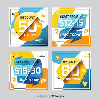 Sale web banner for social media