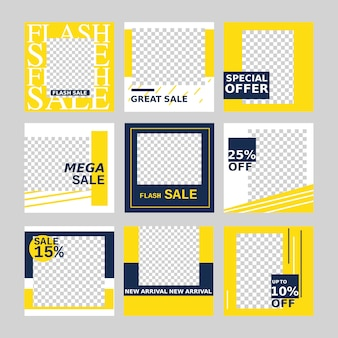 Sale web banner for social media promotion and marketing with minimal design element.