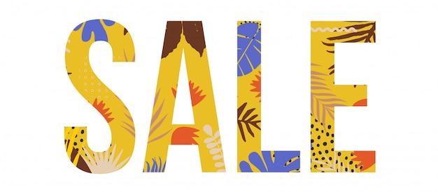 Sale website typographic banner