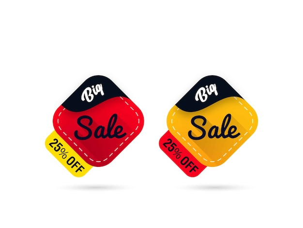 Sale with discount label