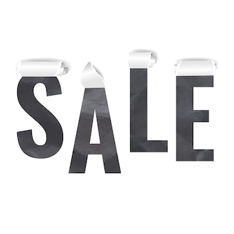 Sale with torn paper