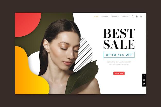 Продажа абстрактной целевой страницы с изображением