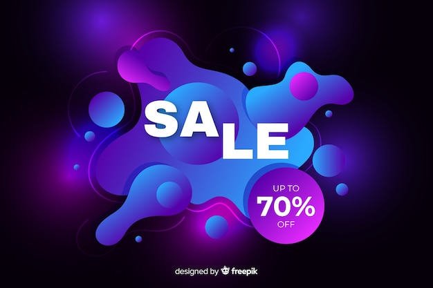 Sales background with fluid effect