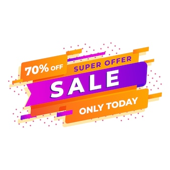 Sales background with super offer