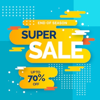 Sales background with super sale