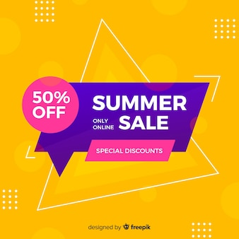 Sales banner in abstract colorful style